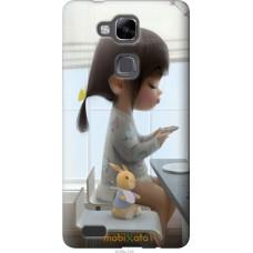 Чехол на Huawei Ascend Mate 7 Милая девочка с зайчиком