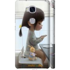 Чехол на Huawei Honor 5X Милая девочка с зайчиком