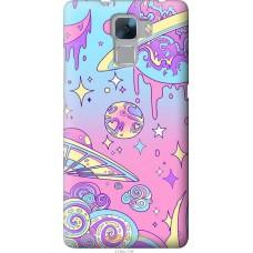 Чехол на Huawei Honor 7 'Розовый космос
