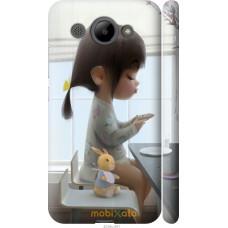 Чехол на Huawei Y3 2017 Милая девочка с зайчиком