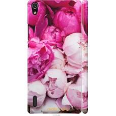Чехол на Huawei Ascend P7 Розовые цветы
