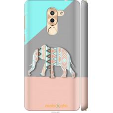 Чехол на Huawei Mate 9 Lite Узорчатый слон