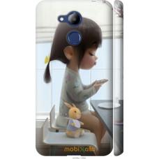 Чехол на Huawei Honor 6C Pro Милая девочка с зайчиком