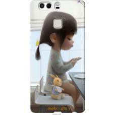 Чехол на Huawei P9 Plus Милая девочка с зайчиком