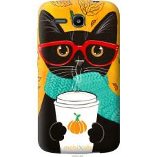 Чехол на Huawei Ascend Y600 Осенний кот