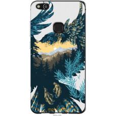 Чехол на Huawei P10 Lite Арт-орел на фоне природы