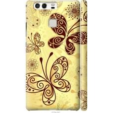 Чехол на Huawei P9 Рисованные бабочки