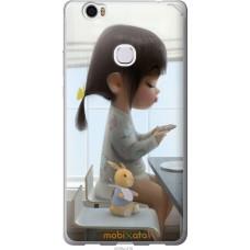 Чехол на Huawei Honor Note 8 Милая девочка с зайчиком