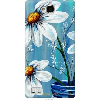 Чехол на Huawei Honor 3C Красивые арт-ромашки
