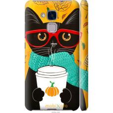 Чехол на Huawei Honor 5C Осенний кот