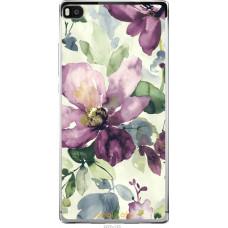 Чехол на Huawei Ascend P8 Акварель цветы