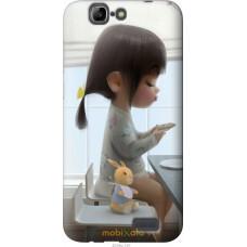 Чехол на Huawei Ascend G7 Милая девочка с зайчиком