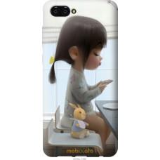 Чехол на Huawei Nova 2S Милая девочка с зайчиком