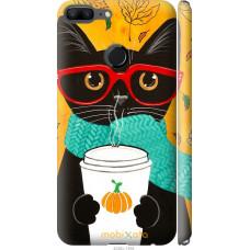 Чехол на Huawei Honor 9 Lite Осенний кот