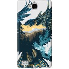 Чехол на Huawei Honor 3C Арт-орел на фоне природы