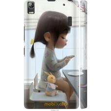 Чехол на Lenovo A7000 Милая девочка с зайчиком