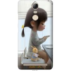 Чехол на Lenovo Vibe K5 Note A7020a40 Милая девочка с зайчик