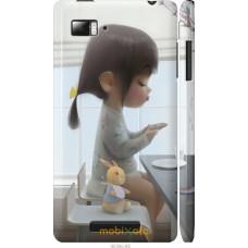 Чехол на Lenovo Vibe Z K910 Милая девочка с зайчиком