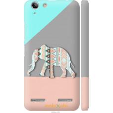 Чехол на Lenovo K5 Plus Узорчатый слон