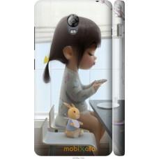 Чехол на Lenovo Vibe P1 Милая девочка с зайчиком