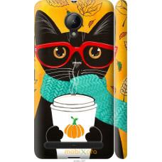 Чехол на Lenovo Vibe C2 Осенний кот