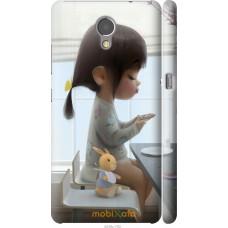 Чехол на Lenovo Vibe P2 Милая девочка с зайчиком