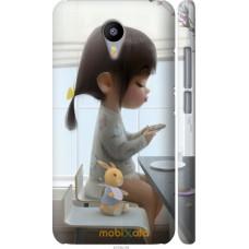 Чехол на Meizu M2 Note Милая девочка с зайчиком