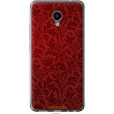Чехол на Meizu M3e Чехол цвета бордо