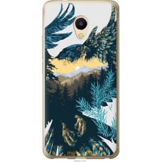 Чехол на Meizu M5s Арт-орел на фоне природы