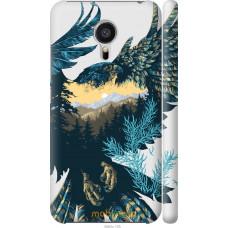 Чехол на Meizu MX5 Арт-орел на фоне природы