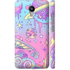 Чехол на Meizu M2 Note 'Розовый космос
