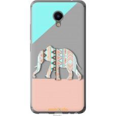 Чехол на Meizu M3e Узорчатый слон