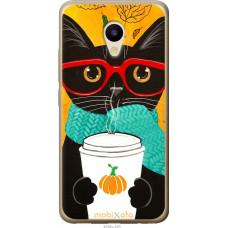 Чехол на Meizu M5 Осенний кот