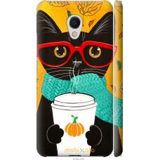 Чехол на Meizu MX6 Осенний кот