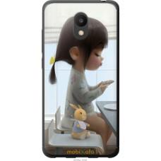 Чехол на Meizu M6 Милая девочка с зайчиком