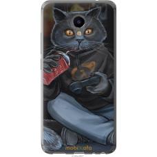 Чехол на Meizu M3e gamer cat