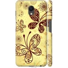 Чехол на Meizu M6s Рисованные бабочки