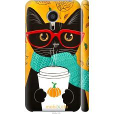 Чехол на Meizu MX5 Осенний кот