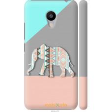 Чехол на Meizu M3s Узорчатый слон