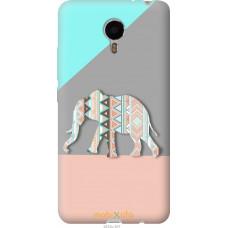 Чехол на Meizu Metal Узорчатый слон