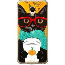 Чехол на Meizu M5s Осенний кот