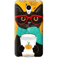 Чехол на Meizu M1|M1 mini Осенний кот