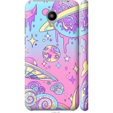 Чехол на Meizu M2 'Розовый космос