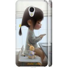 Чехол на Meizu MX6 Милая девочка с зайчиком