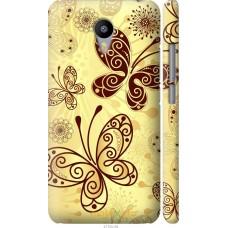 Чехол на Meizu M2 Note Рисованные бабочки