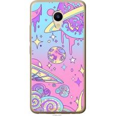 Чехол на Meizu M5 'Розовый космос