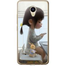 Чехол на Meizu M5 Милая девочка с зайчиком
