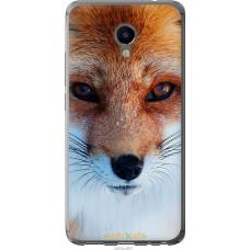 Чехол на Meizu M3e Рыжая лисица