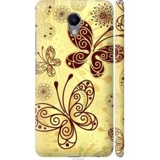 Чехол на Meizu M5 Note Рисованные бабочки