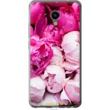 Чехол на Meizu M3e Розовые цветы
